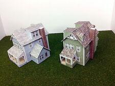 N Scale Buildings Houses (2) - Card Stock Model Kit GWN2