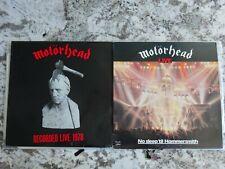 MOTORHEAD - 2 live LP lot. What's Words Worth - No Sleep 'til Hammersmith