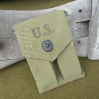 2- Orig WWII Blued S Marked M1911a1 .45 Magazine's W/MINT 1942 POUCH SET