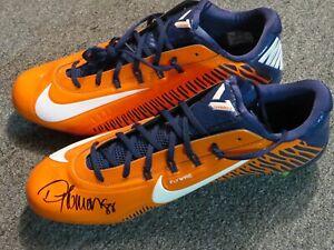 Demaryius Thomas Signed Nike Cleats sz14 Autographed COA Denver Broncos colors