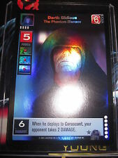 SWCCGYJ CCG YOUNG JEDI ENHANCED NABOO FOIL MINT SUPER RARE P14 DARTH SIDIOUS