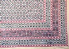 Handmade 100% Cotton Moroccan Foulard Tapestry Tablecloth Coverlet Spread 70x106