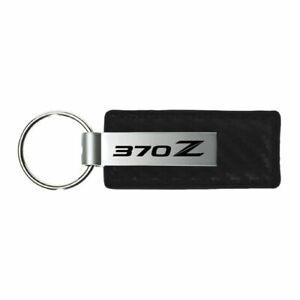 Nissan 370z Key Ring Black Leather Rectangular Keychain
