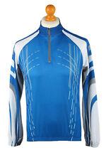 Cycling Shirt Jersey Top T shirt 90s Retro Race Sport Blue Size S -CW0779