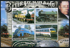 Niger 1998 MH Trains & Locomotives of World Steam Engines 4v M/S Rail Stamps