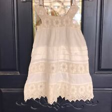 VINTAGE BABY BLESSING DRESS Hand Crochet Detail