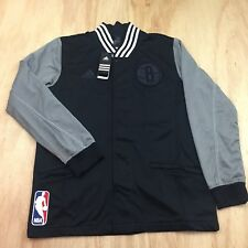 adidas NBA Brooklyn Nets Authentic on Court Jacket Mens Sz M Medium Black