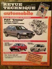 Revue Technique Automobile Fiat CROMA - Citroën BX - Peugeot 205 RALLYE