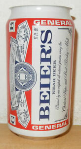 General BEIER'S Near Beer can from U.S.A. (355ml)  Test can !! ??  BUDWEISER
