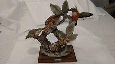Giuseppe Armani Capodimonte Antique Porcelain Hummingbirds Made In Italy
