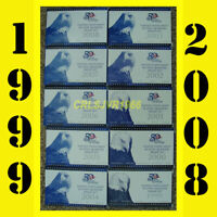 10 United States US MINT 50 State Quarters Proof Sets (1999-2008) with COA's