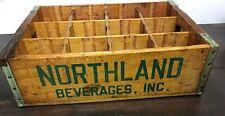 Primitive Antique Old Northland Beverages , Inc. Wood Pop Crate
