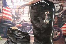 Pants Motorcycle Women's MED Black Knee Amour Aqua-Therm 600 Denier Carbolex  B8