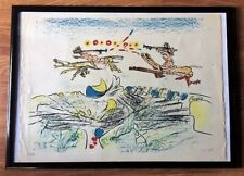 """Roberto Matta """"The Jupitiens""""  Original Pencil signed and numbered Lithograph."""