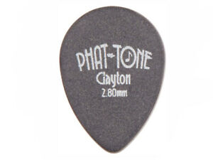 CLAYTON PHAT-TONE GUITAR PICK PACK (3) Small Teardrop Rubber 2.8mm Gauge