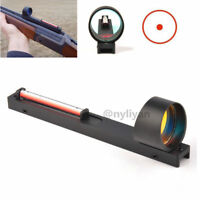 Holographic Red Dot Scope Sight Red Fiber Reflex Sight Fit Shotgun Rib Rail Hunt