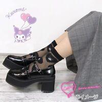 NWT Sanrio Kuromi Sheer Heart Socks Sanrio Official Japan Kawaii Gift