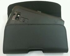 For LG Phoenix 2 XL LEATHER POUCH BELT CLIP HOLSTER FIT A OTTERBOX CASE ON PHONE