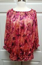 Covington Pink Floral Blouse Plus Size Women's Size 20-22w