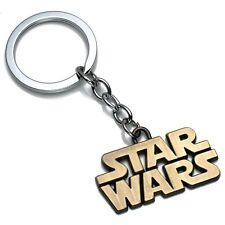 Star Wars | Logo Schriftzug | Schlüsselanhänger Keychain Bronze Gold Fanartikel