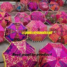5 pc Indian WHOELESALE LOT TRADITIONAL UMBRELLAS INDIAN PARASOL RAJASTHANI DECOR