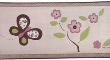 NEW CoCaLo Baby Sugar Plum Lot of 4 Rolls Wallpaper Border Pink Nursery