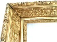 "ANTIQUE FITS 11.6 X13.18"" GOLD PICTURE FRAME WOOD GESSO ORNATE FINE ART COUNTRY"