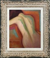 FRANCOIS BESSON (1904-1987) PEINTURE FAUVISTE SUPERBE NU FEMININ (19)