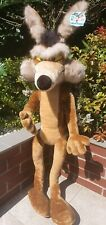 Looney Tunes Wile E. Coyote Plush Soft Toy With Tags Warner Bros 110 cm