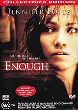 ENOUGH DVD Region 4 - JENNIFER LOPEZ_RARE OOP
