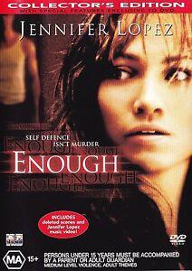 ENOUGH DVD Jennifer Lopez Movie - AUSTRALIAN REGION 4