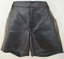 THEYSKENS's THEORY Nero porty in finta pelle sera pantaloni corti Sz:40; US6; UK10 NUOVO CON ETICHETTA