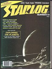 STARLOG # 13 MAGAZINE 1978 FORREST J ACKERMAN LOGAN RUN THE TIME MACHINE