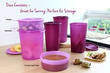 New Tupperware Deco Canister 6pc Set