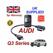 AUDI Q3 séries 4F0051510M pour Blackberry Q10 MICRO USB Câble Audio 30cm