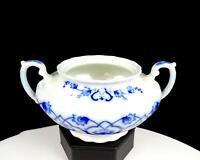 """WH GRINDLEY & CO ENGLAND FLOW BLUE HADDON PATTERN ART NOUVEAU 7"""" SUGAR BOWL 1842"""