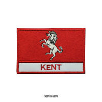 KENT County Flag With Name Embroidered Patch Iron on Sew On Badge For Clothes