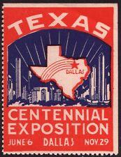 1936 Texas Centennial Exposition Poster Stamp