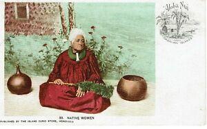VINTAGE POSTCARD. NATIVE WOMEN. 1906. HAWAIIAN ISLANDS.