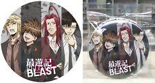 "Saiyuki RELOAD BLAST De-Can Badge SANZO GOKU GOJYO HAKKAI 5.9"" DIA Licensed New"