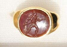 Heavy Roman Style Silver/ gold plated Signet Seal Intaglio Ring