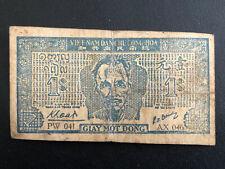 Guerre d'Indochine : rare billet viet de 1 dollar de la guerre d'Indochine 1952