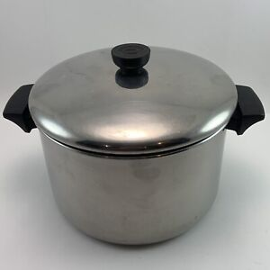 Vintage 1801 Revere Ware Stainless Steel 6 Qt. Stock Pot With Lid. Clinton IL