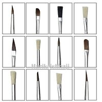 ARTIST 15 PIECES BRUSH SET Assorted Size Length Acrylic Oil Brushes Flat Tipped