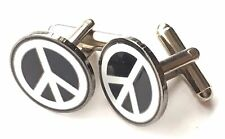 CND Campaign for Nuclear Disarmament Enamel Crested Cufflinks (N59) Gift Boxed