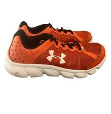 Under Armour Performance Athletic Shoes UA Assert 6 Boys 4Y Red White Black EUC