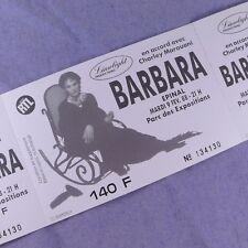 Billet concert Barbara Epinal / Ticket Photo de Affiche LP Vinyl CD tournée 1988