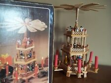 3 tier WEIHNACHT spinner PYRAMID christmas CANDLE CAROUSEL windmill NATIVITY