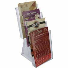 Azar 252307 Four-Tier Bi-Fold Size Brochure Holder for Counter, 2-Pack