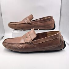 Men's Clarks Brown Leather Penny Driving Loafers Size 8.5M Casual Comfort